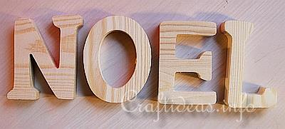 christmas wood craft wooden noel letters decoration