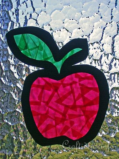 Paper Apple Suncatcher