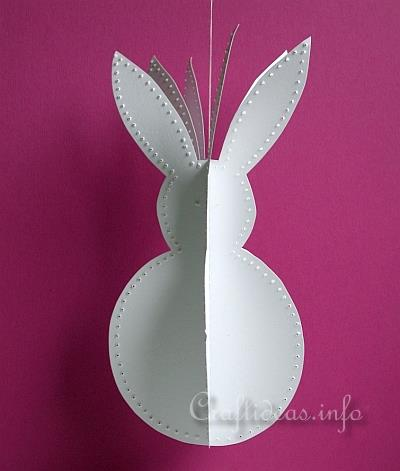 Paper Crafts For Easter 3d Paper Easter Bunny Decoration