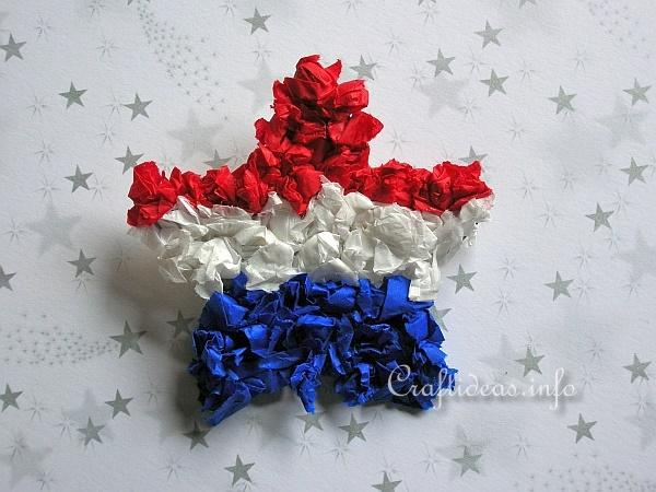 Paper Craft - American Patriotic Star Pin Craft