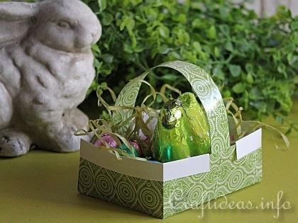 Paper Craft for Easter - Origami Easter Basket with Eggs