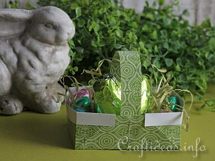 Paper Craft for Easter - Origami Easter Basket with Eggs 2