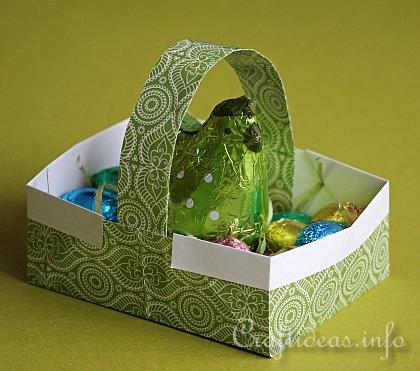 Paper Craft for Easter - Origami Easter Basket with Eggs 3