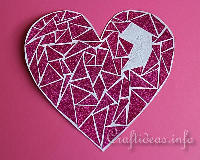 Paper Craft for Kids - Mosaic Heart