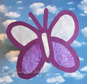 Paper Craft for Spring - Butterfly Window Decoration - 2