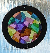 Paper Craft for Summer - Kids Craft - Kaleidioscope Suncatcher