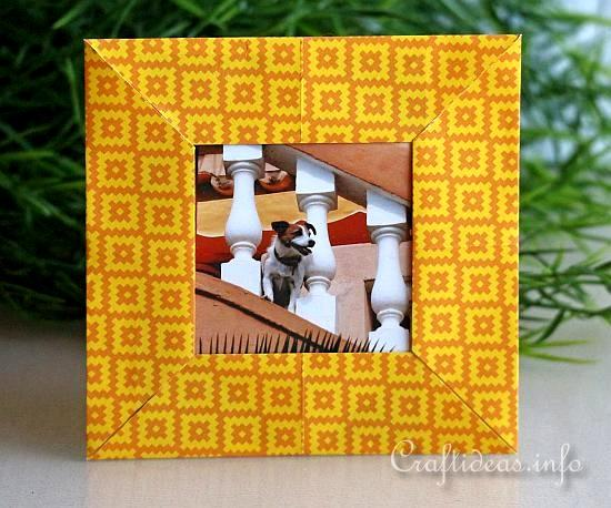 Paper Craft for Summer - Origami Picture Frame Craft for Kids 2