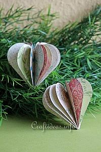 Paper Craft for Valentine's Day - 3-D Paper Heart Decoration 200