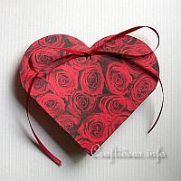 Paper Craft for Valentine's Day - Paper Heart Gift Box