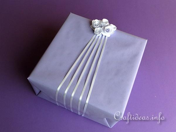 Paper Rose Gift Wrap Idea