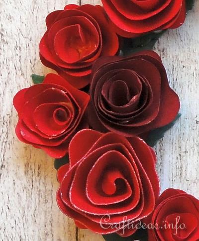 Paper Wreath with Roses 2