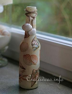 Recycling Craft - Bottle with Seashells