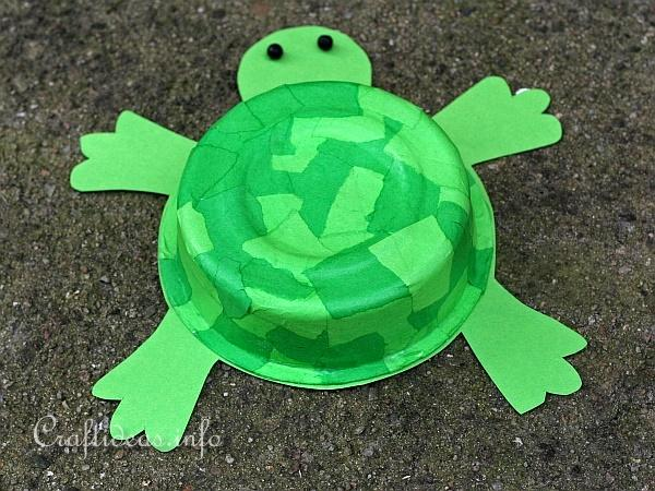Recycling Craft for Kids - Turtle 2