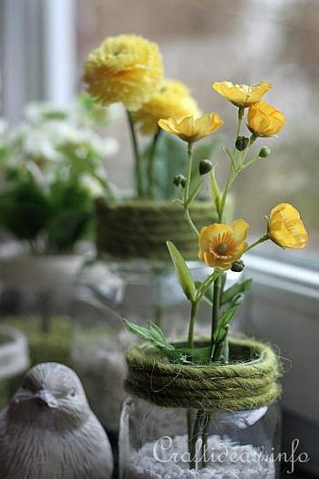 Recycling Craft for Spring - Jar Flower Vases 5