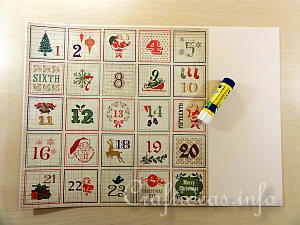 Scrapbook Paper Advent Calendar Tutorial 1