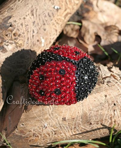 Sequins and Beads Lady Bug 2