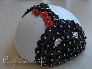 Sequins and Beads Lady Bug 6
