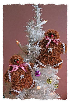 Soft and Fuzzy Gingerbread Man Ornaments