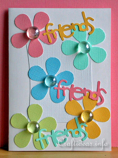 Free Card Craft Ideas Friends Greeting Card With Flowers