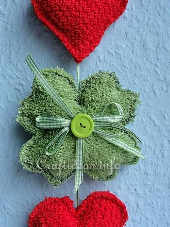 St. Patrick's Day Craft - Shamrock and Hearts Decoration 2