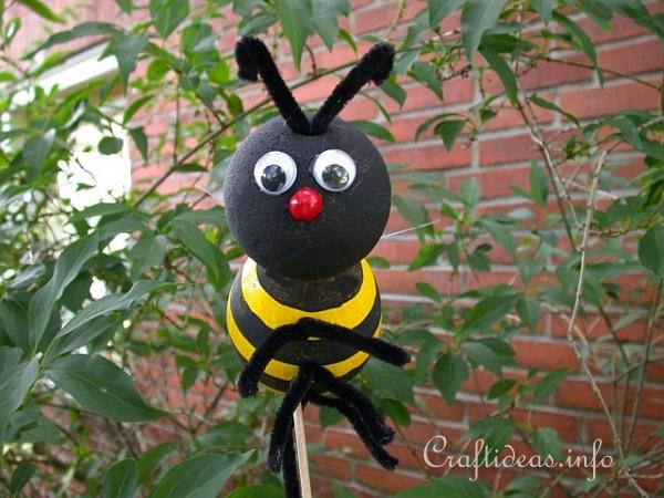Free Summer Crafts For Kids Styrofoam Bumble Bee
