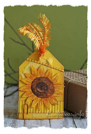 Tag Craft - All Occasion Gift Tag with Sunflower