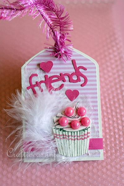 free paper crafts create a pink tag for girls or teens