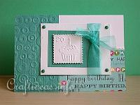 Turquoise Happy Birthday Card