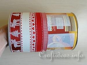 Tutorial - Embellished Christmas Can 2