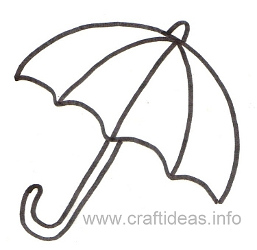Free Craft Patterns And Templates  Umbrella Template