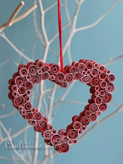 Paper Craft Decoration For Valentine S Day Or Mother S Day Quilled