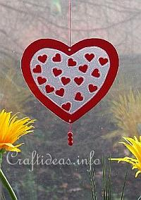 Valentine's Day Craft - Transparent Heart Window Decoration