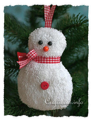 Washcloth Snowman Craft