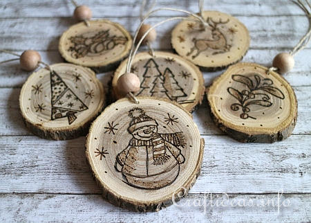 Wood Burned Christmas Ornaments 2