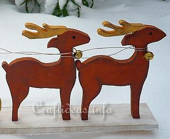 Wood Craft for Christmas - Santa Sleigh and Reindeer 3