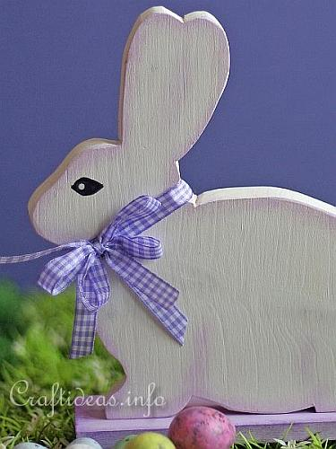 Woodcraft for Easter - White Easter Bunny 2