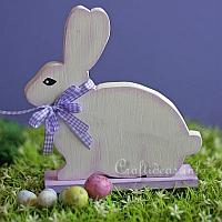 Woodcraft for Easter - White Easter Bunny