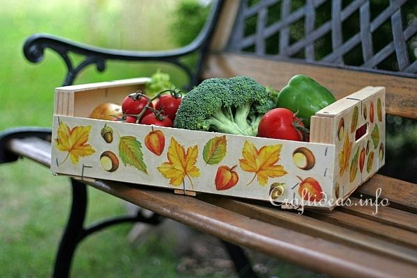 Wooden Fruit Crate - Paper Napkin Applique 1