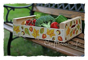 Wooden Fruit Crate - Paper Napkin Applique