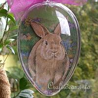 Acrylic Egg with Easter Bunny Motif