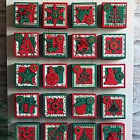 Advent Calendar - Red and Green