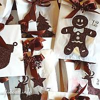 Advent Calendar - White and Brown Theme