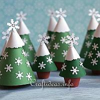 Advent Calendar with Clay Pot Trees