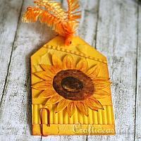 All Occasion Gift Tag with Sunflower