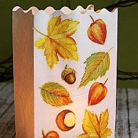 Autumn Paper Bag Luminaria