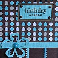 Birthday Card in Retro Look - Dots