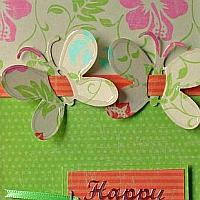 Birthday Card with Butterflies and Tropical Colors