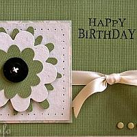 Birthday Card with Large Flower