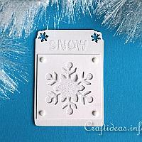Blue Artist Trading Card with Snowflake Motif