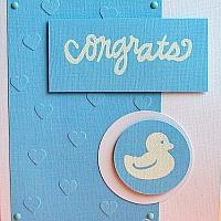 Blue Card with Duck Motif